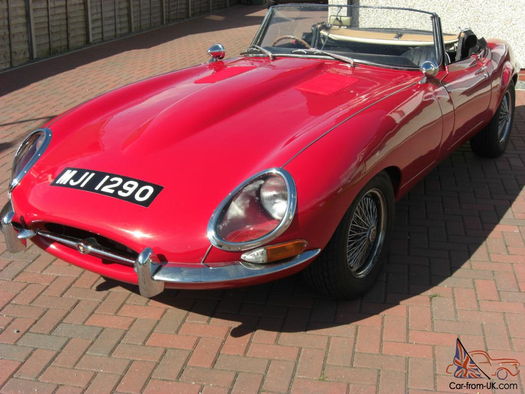 E-Type Jaguar Kit Car Soft Top - Pillar Box Red - Great Fun - SORN