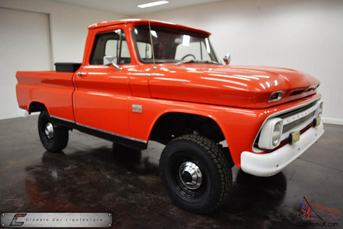 1966 chevrolet k10 short wheelbase 4x4 pickup. Black Bedroom Furniture Sets. Home Design Ideas