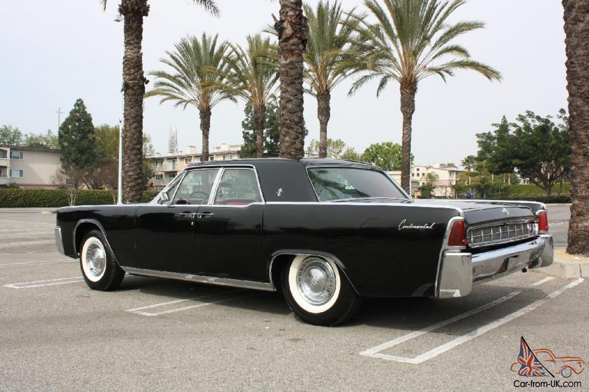 1963 Lincoln Continental CA-car Black w/ Ferrari Red interior ...