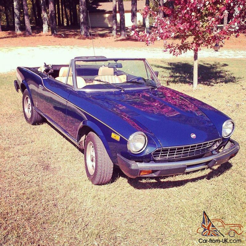 1980 fiat 124 spider 2000 convertible 2 door. Black Bedroom Furniture Sets. Home Design Ideas