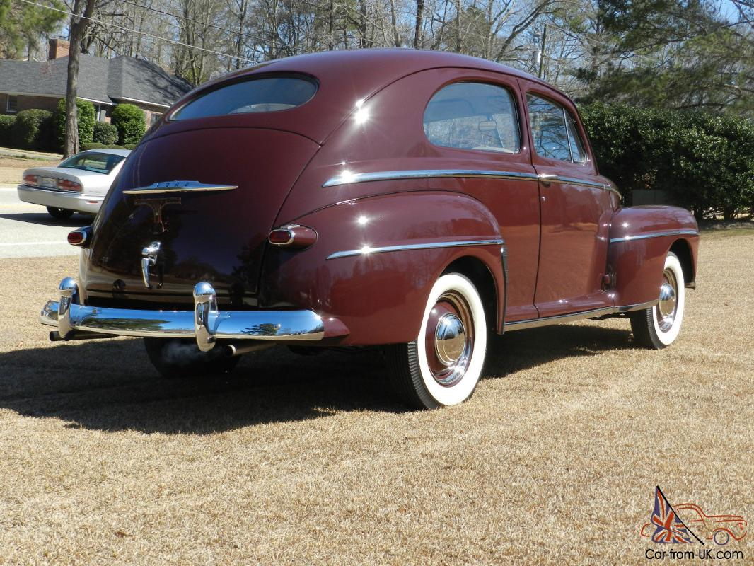 1947 ford custom deluxe 2 door sedan frame off restoration for 1947 ford 2 door