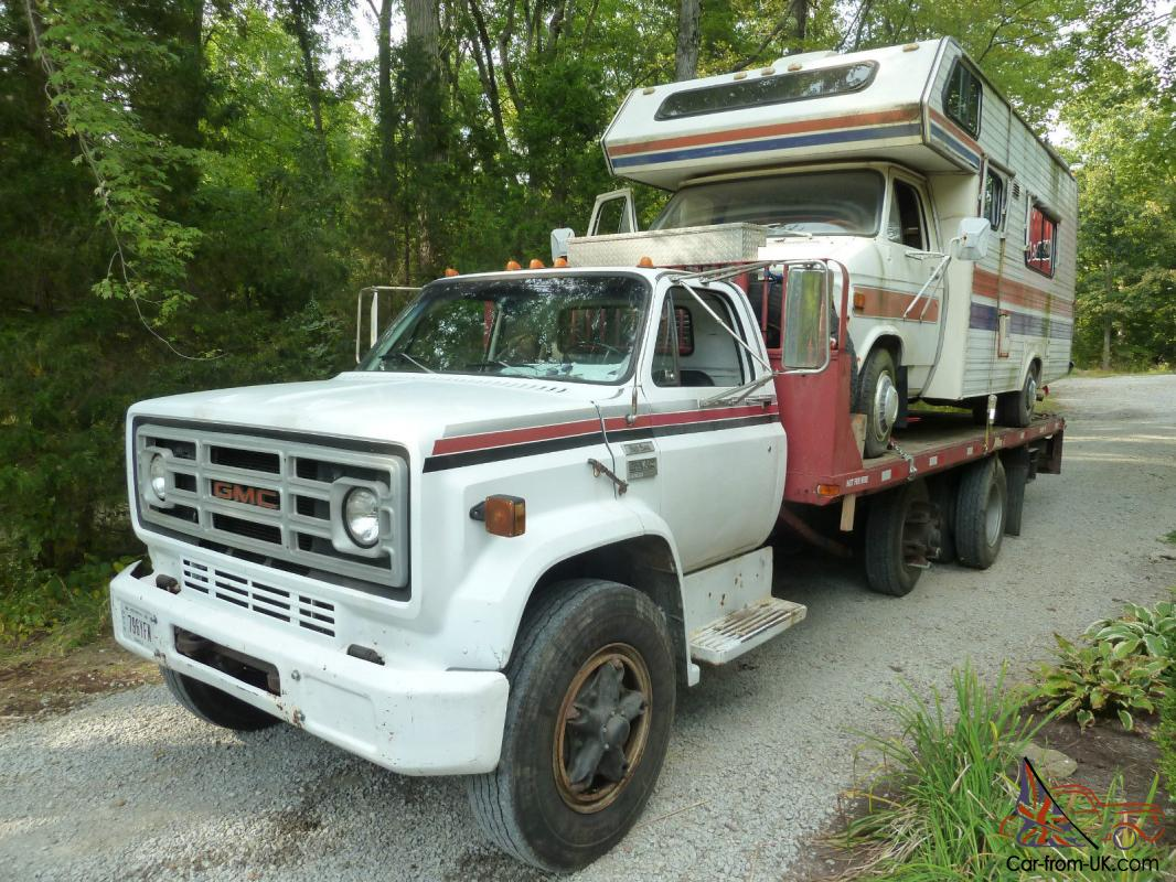 Gmc high sierra 6500 rollback truck with big block for Gmc motors for sale