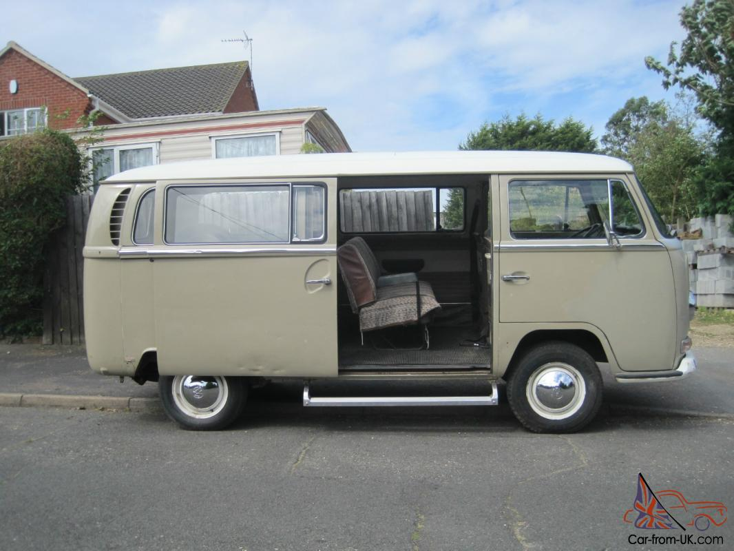 1969 vw volkswagen deluxe bus with original savannah beige paint van. Black Bedroom Furniture Sets. Home Design Ideas