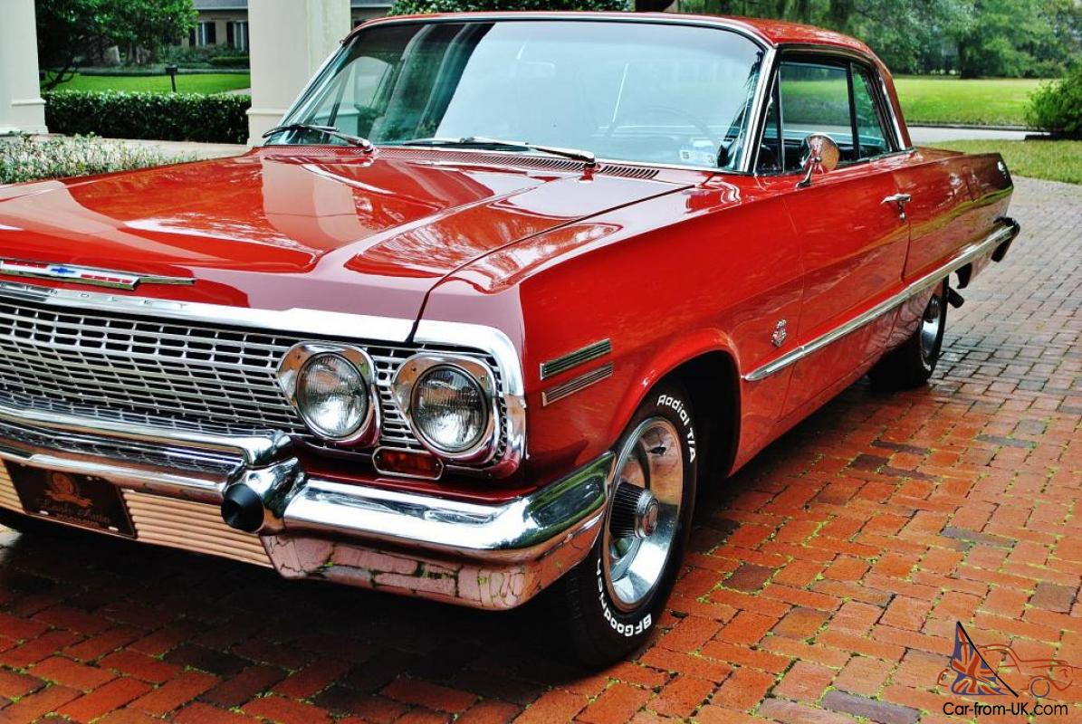 Real deal frame 63 Impala SS matching number\'s 409 Automatic vintage ...