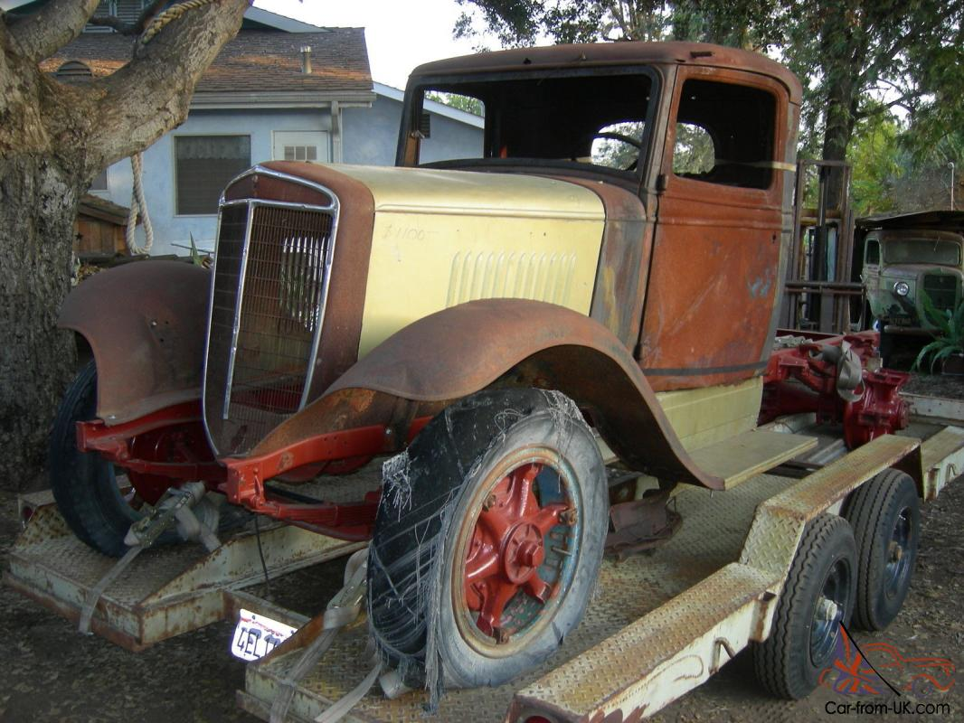 1935 36 International C 30 1 1/2 ton truck rat rod yard ...