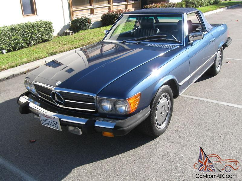 1985 mercedes 380 sl v8 hard soft top. Black Bedroom Furniture Sets. Home Design Ideas