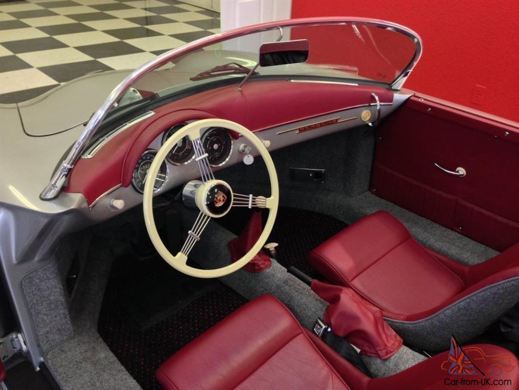 1955 Speedster 356 Replica Silver Convertible 2 Door