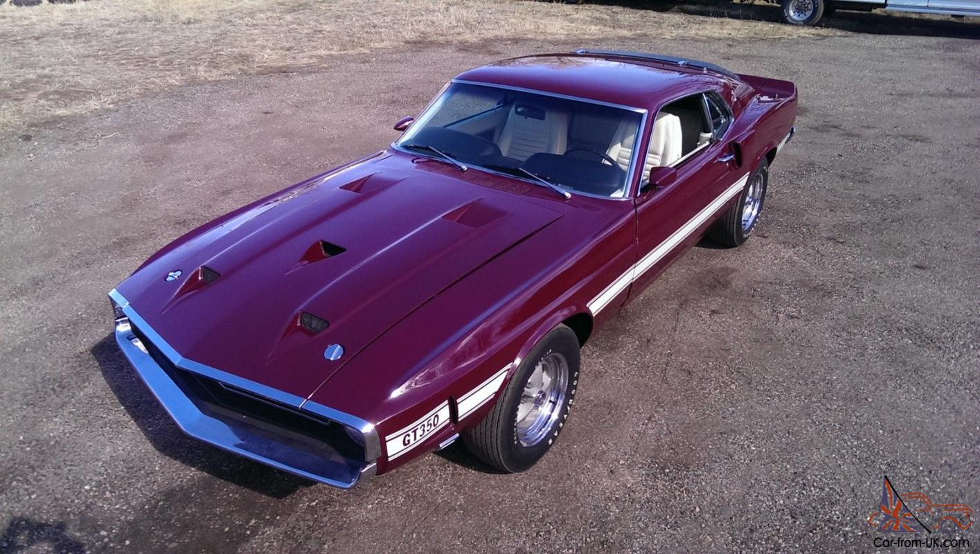 1969 ford shelby gt 350 mustang 4 speed numbers matching motor and transmission photo