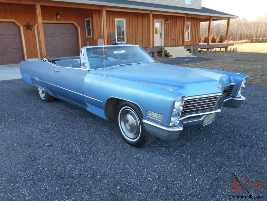 1967 cadillac deville 2 door convertible 429 motor priced