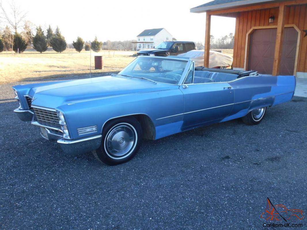 1967 cadillac deville 2 door convertible 429 motor priced. Black Bedroom Furniture Sets. Home Design Ideas