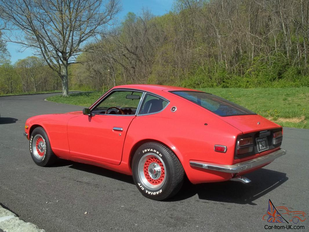 1972 datsun 240z antique sports car orange coupe. Black Bedroom Furniture Sets. Home Design Ideas