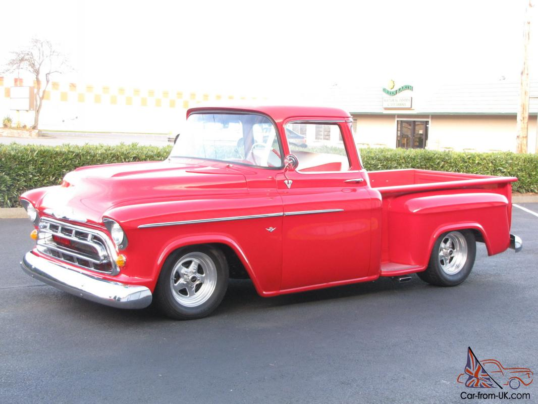 1957 chevrolet big window short box resto mod pickup for 1957 chevy big window truck for sale