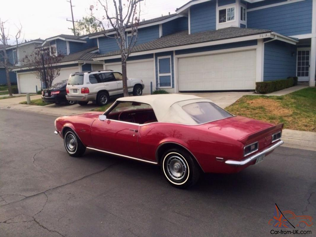1968 Chevrolet Camaro Convertible 1 Owner All Original