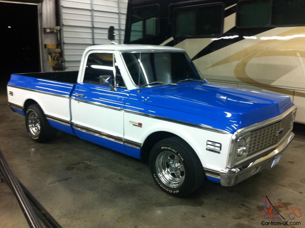 1972 chevrolet chevy cheyenne truck short bed 385 fast burner 385hp. Black Bedroom Furniture Sets. Home Design Ideas