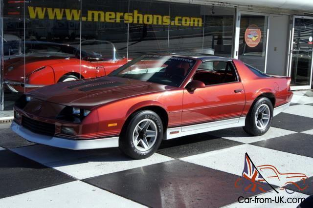87 Camaro Z28 15k Original Miles Red Interior
