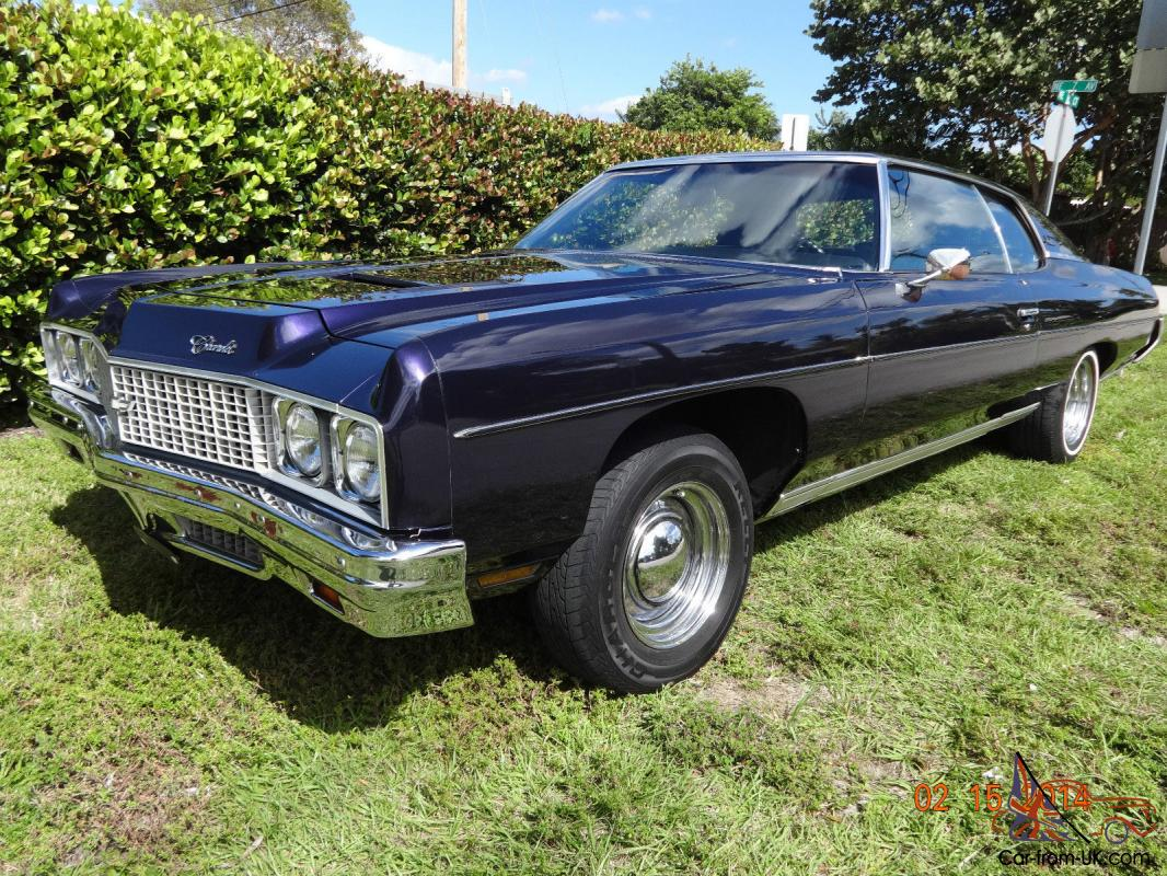 1973 chevrolet impala custom coupe pristine florida car not caprice or chevelle. Black Bedroom Furniture Sets. Home Design Ideas