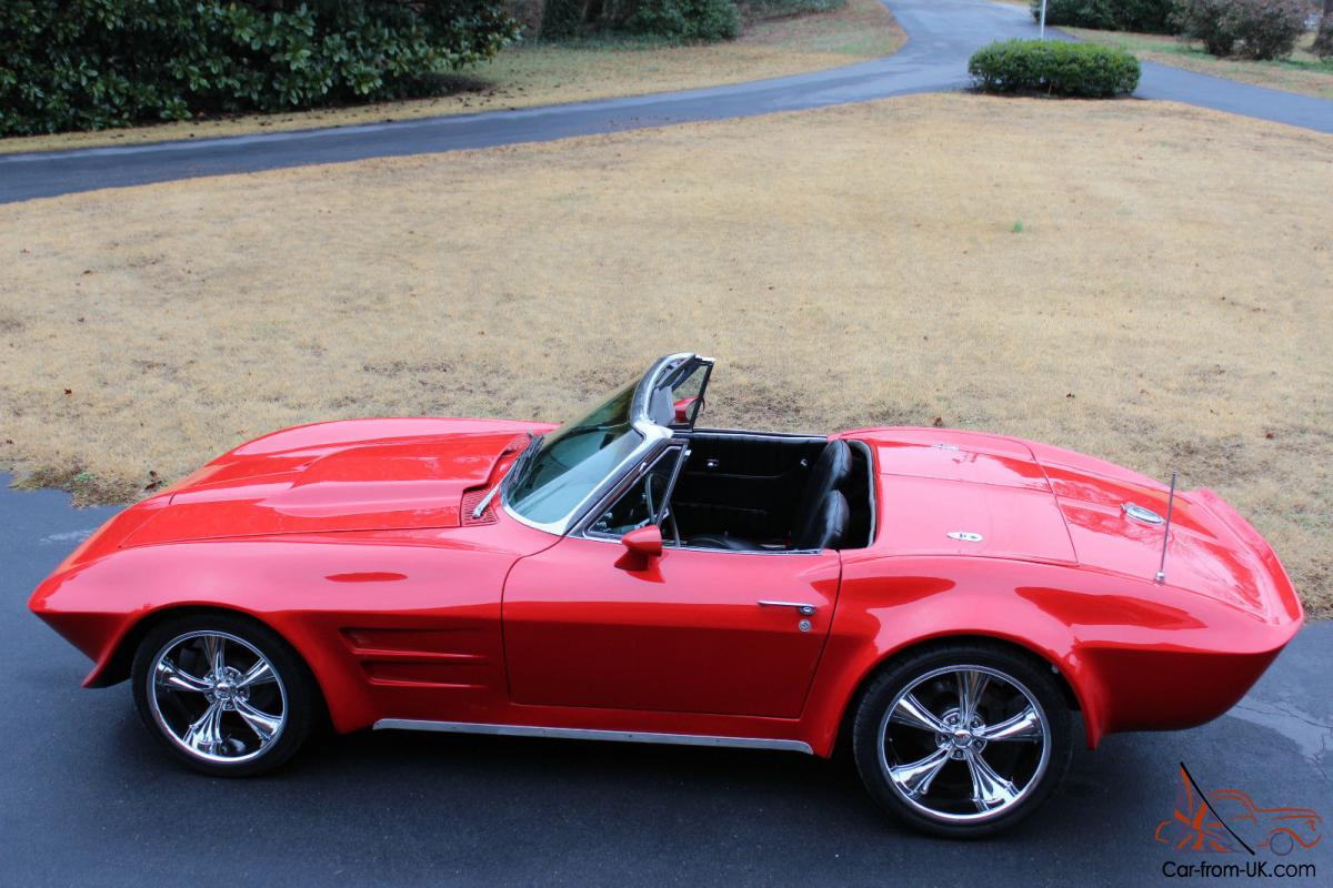 1966 corvette convertible custom brillant red paint 4 speed. Black Bedroom Furniture Sets. Home Design Ideas