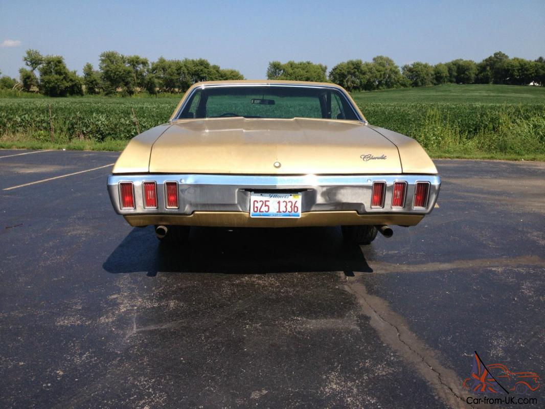 1970 chevrolet impala muscle car great condition high performance gold. Black Bedroom Furniture Sets. Home Design Ideas
