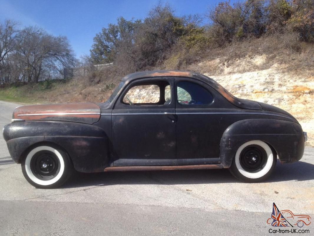 Ford Super Deluxe Business Coupe Flathead Traditional Hot Rod DRIVES ...