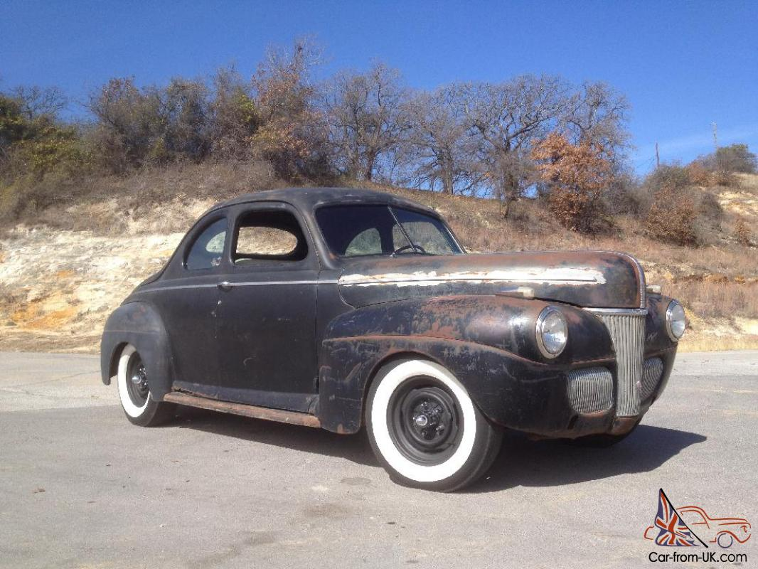 1941 Ford Super Deluxe Business Coupe Flathead Traditional Hot Rod Mercury Engine Drives Videos
