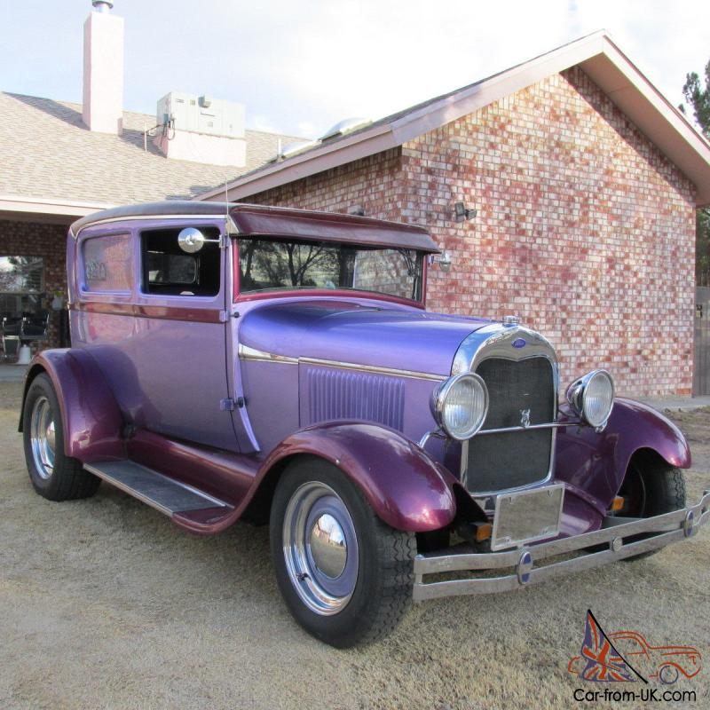 1928 ford 2 door sedan hot street rod 350 350 mustang ii for 1928 chevy 2 door coupe