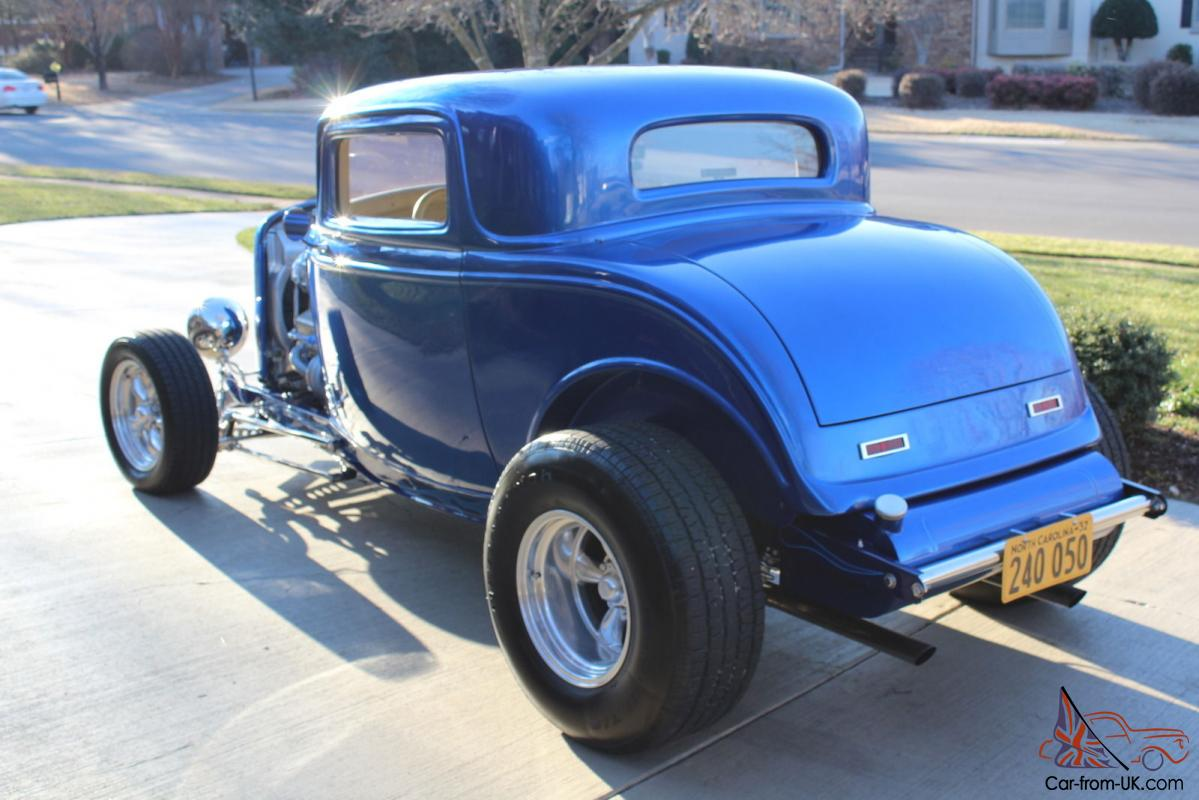 1932 ford viper blue 3 window coupe highboy excellent for 1932 ford 3 window