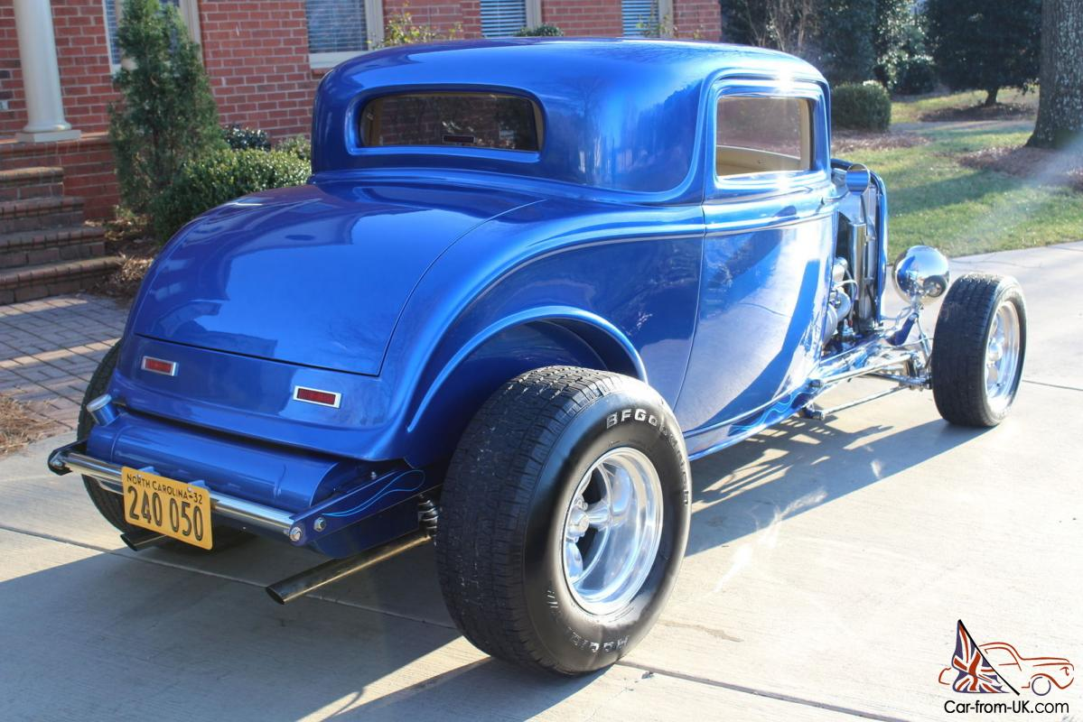 1932 ford viper blue 3 window coupe highboy excellent for 1932 ford three window
