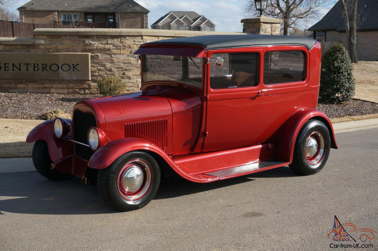 1929 ford model a 2 door sedan steel 1934 style wheels