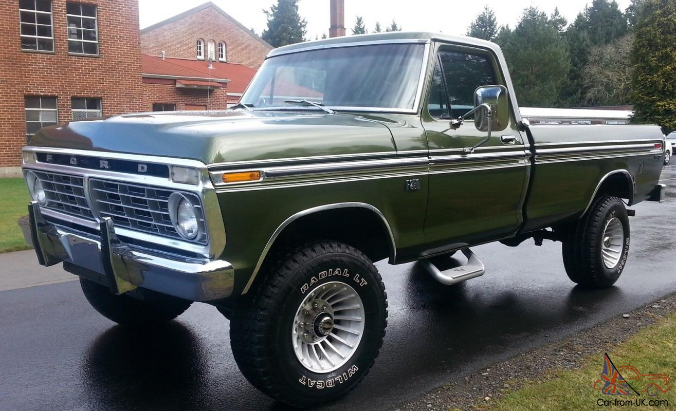 1975 ford highboy f 250 ranger 4x4 390 auto a c locking hubs buy it now 15 000. Black Bedroom Furniture Sets. Home Design Ideas