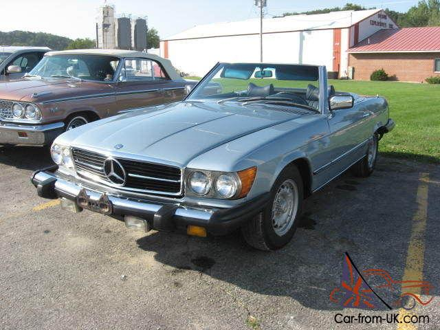 1978 mercedes benz 450sl convertible blue for 1978 mercedes benz 450sl