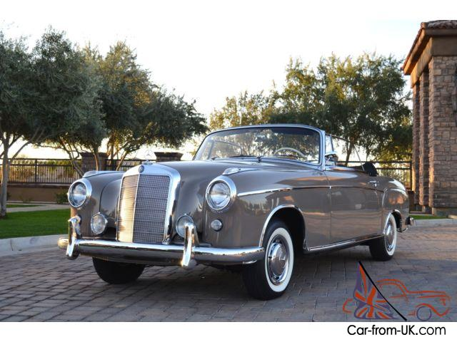 1957 mercedes 220s cabriolet restored just out of long term collection stunning. Black Bedroom Furniture Sets. Home Design Ideas