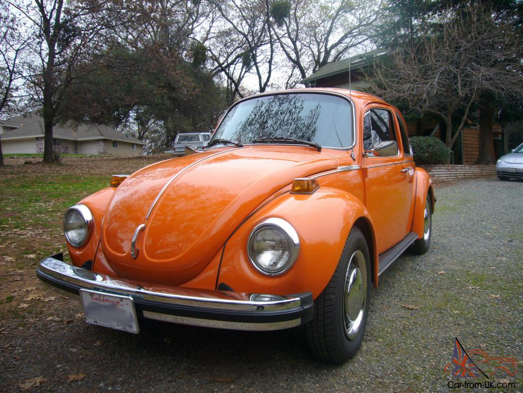 completely restored 1974 volkswagen super beetle. Black Bedroom Furniture Sets. Home Design Ideas