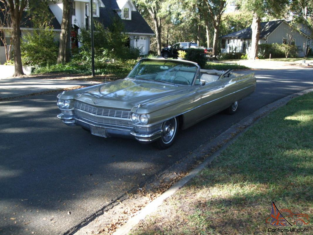 1964 cadillac convertible rare sierra gold 429 last year. Black Bedroom Furniture Sets. Home Design Ideas
