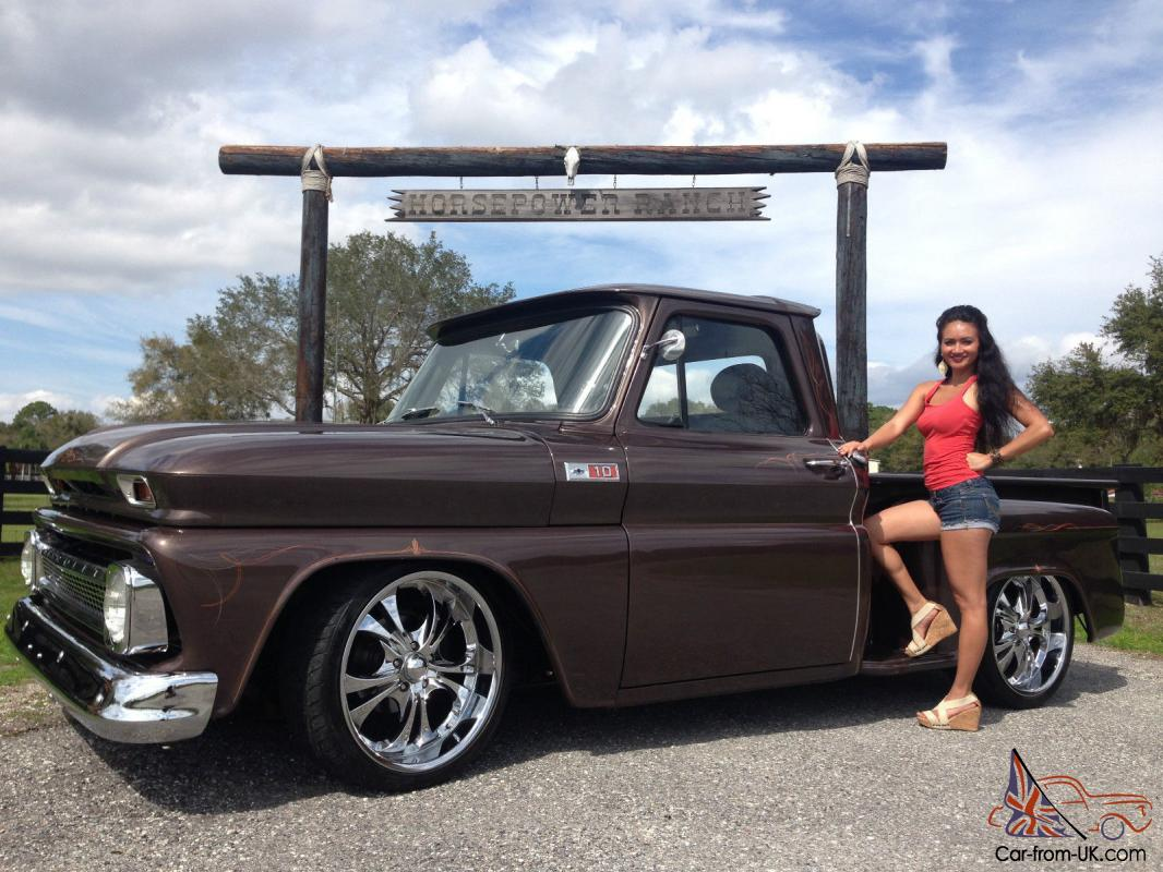 1965 chevy step side frame off restoration custom retro