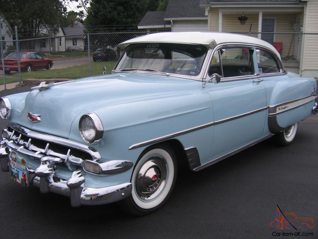 1954 Chevy Belair 2dr Coupe Very Nice Low Miles Bel Air