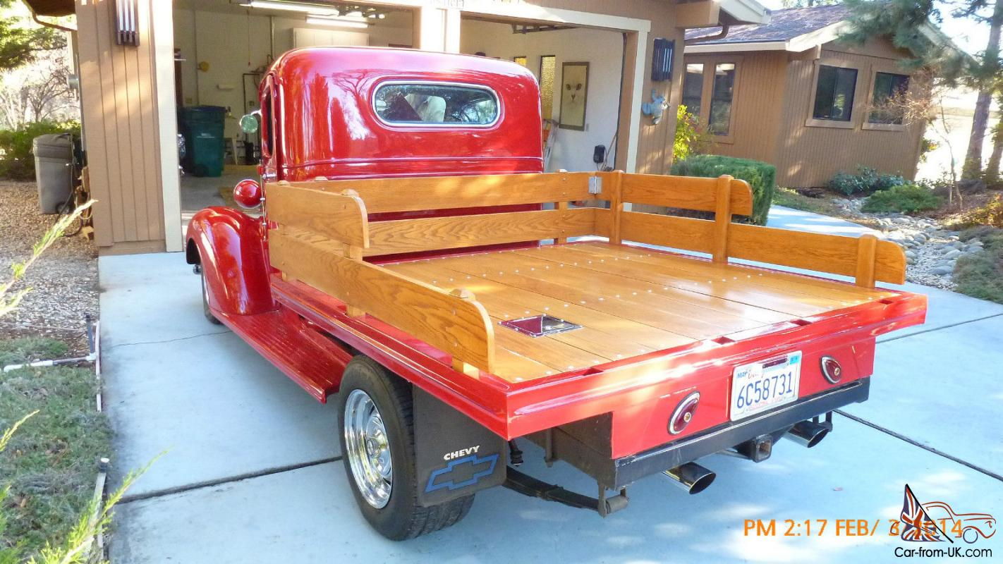 1937 Chevy Custom Truck Resto Mod With Oak Wood Flatbed