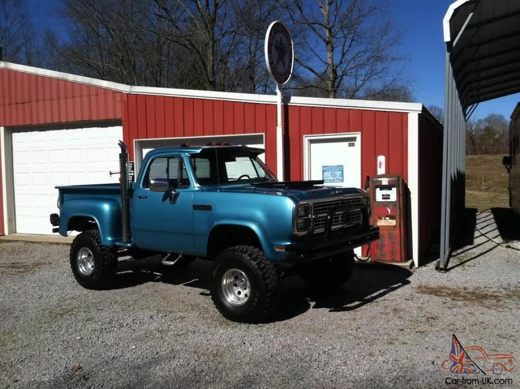 Dodge Power Wagon For Sale >> 1979 Dodge Power Wagon 4x4 Step Side Pick Up