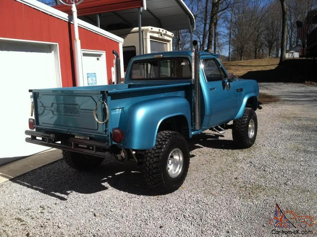 1979 dodge power wagon 4x4 step side pick up. Black Bedroom Furniture Sets. Home Design Ideas