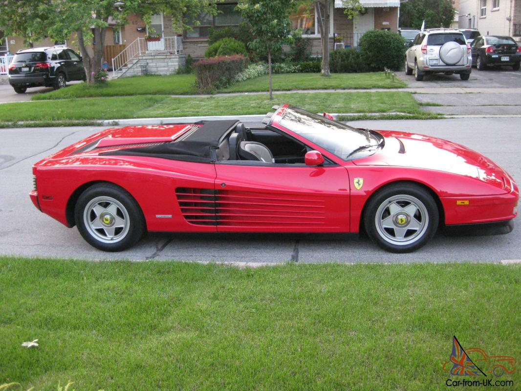 Ferrari Testarossa spider power top convertible 48000 conversion