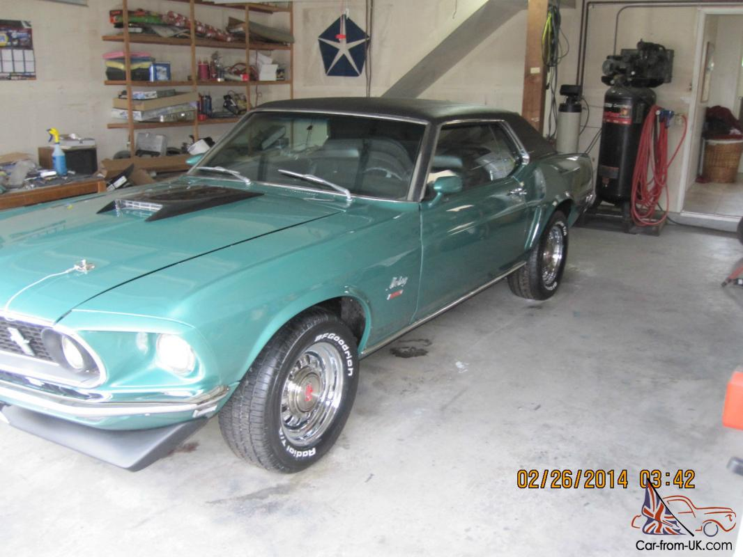 1969 ford mustang grande factory 390 s code 2nd owner photo