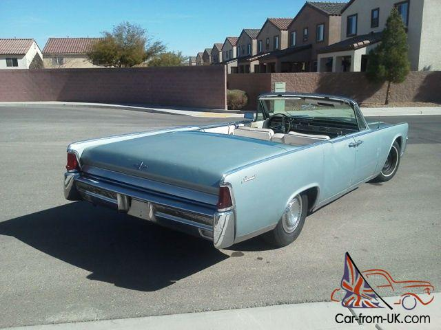 1964 lincoln continental convertible baby blue w ac. Black Bedroom Furniture Sets. Home Design Ideas