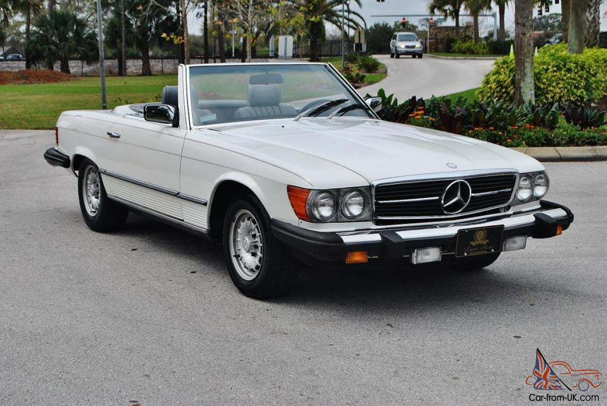 absolutley mint 1983 mercedes benz sl 380 convertible low miles mantained books. Black Bedroom Furniture Sets. Home Design Ideas