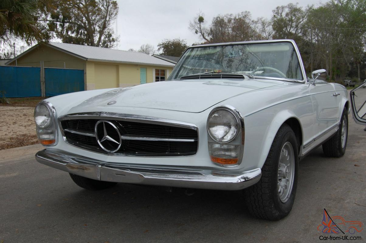 1965 mercedes benz 230sl 4 spd a c hardtop softtop for Mercedes benz 230sl