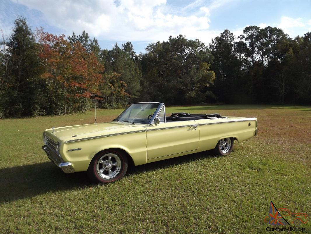 1967 Plymouth Belvedere Convertible 440 Automatic Yellow With Black Top Photo