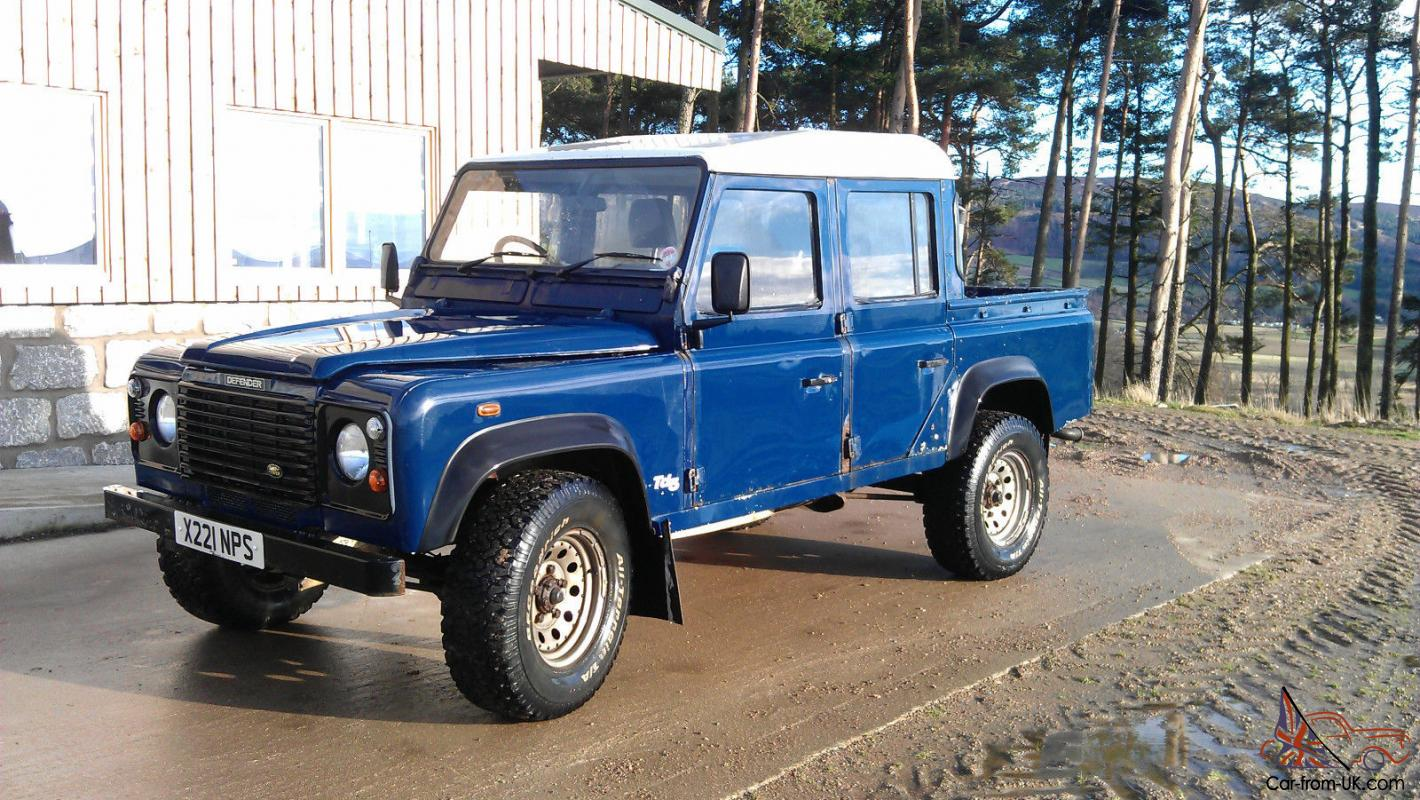 2000 land rover defender 110 td5 blue double cab pick up new chassis. Black Bedroom Furniture Sets. Home Design Ideas