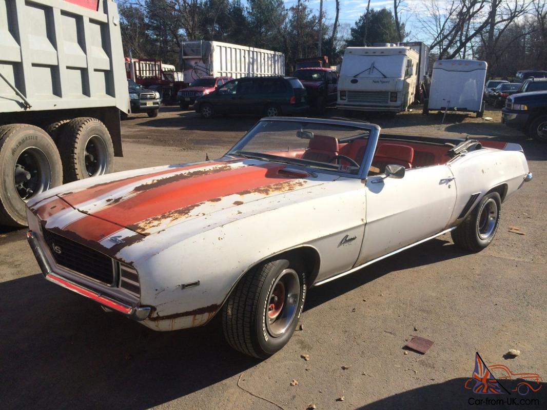 1969 z11 rs ss pace car convertible camaro rusty crusty barn find. Black Bedroom Furniture Sets. Home Design Ideas