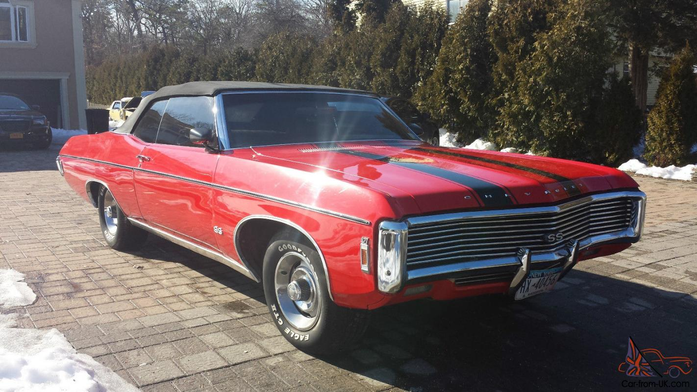 1969 chevy impala convertible with all options. Black Bedroom Furniture Sets. Home Design Ideas