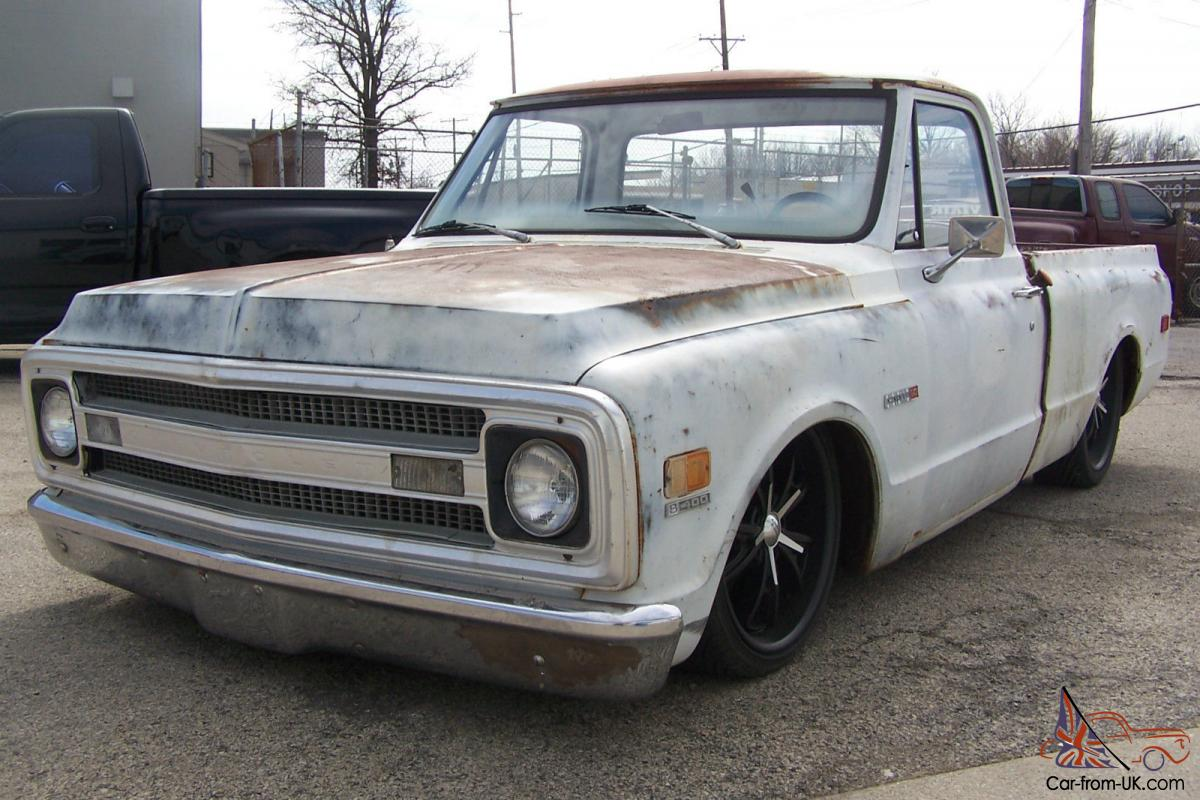 C10 Patina Bagged Ls 5 3l Big Window Short Bed Rat