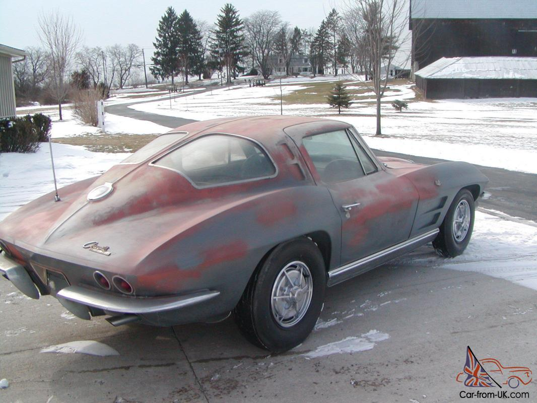 1963 corvette split window coupe barn find project for 1963 corvette split window coupe for sale
