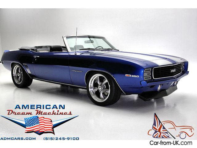 1969 Chevrolet Camaro Convertible Rs Ss Electric Blue